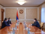 Armen Melikbekyan had a meeting with the President of Artsakh Republic