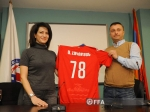 Anna Hakobyan visited FFA football academy and met with CSKA