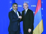 Artur Vanetsyan had a meeting with FIFA president Gianni Infantino