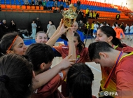 Women's futsal open championship final. Alashkert-girls-1 - Hayasa 0:3
