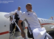 Armenian national team arrival in Podgorica
