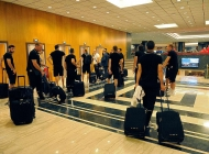 Armenia national team arrives in Athens