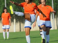 Women's Armenia U-19 team training sessions in Football Academy