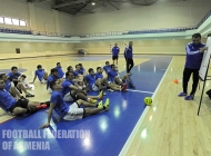 Armenia futsal national team holds training sessions in Football Academy