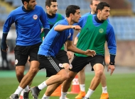 Armenia national team training session at Republican stadium