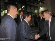 Armenia prime-minister Nikol Pashinyan meets with Armenia national team players