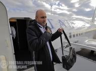Armenia national team arrives in Astana