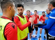 Futsal Armenian national team training session