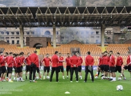 Armenia national team pre-match training session