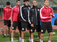 Armenia Under-21 national team pre-match training session at Angelo Massimino stadium