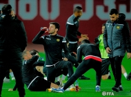 Armenian national team training session at Dinamo stadium in Tbilisi