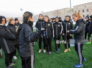 Women's Armenia Under-17 team training session