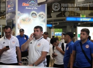 Armenia U-21 arrival and training session in Portugal