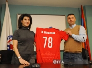 First lady of Armenia Anna Hakobyan visits FFA technical centre/Football Academy