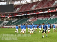 Armenia U-21 national team training at RZHD Arena