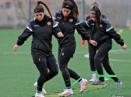 Women's Armenia national team training session