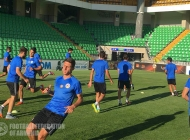 Armenia U-21l team pre-match training session in Moldova