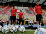 Armenia national team pre-match training session at Filip II stadium