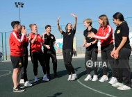 Women's Armenia national team visits Masis family sports complex