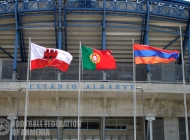 Armenian U-21 training session at Algarve stadium