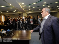 Press-conference of FFA president Ruben Hayrapetyan