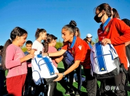 Women's Armenian national team meets with children from Artsakh