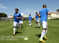 Armenian U-21 second training session in Portugal
