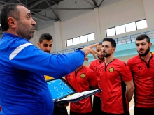 Armenian futsal national team arrived in Tbilisi
